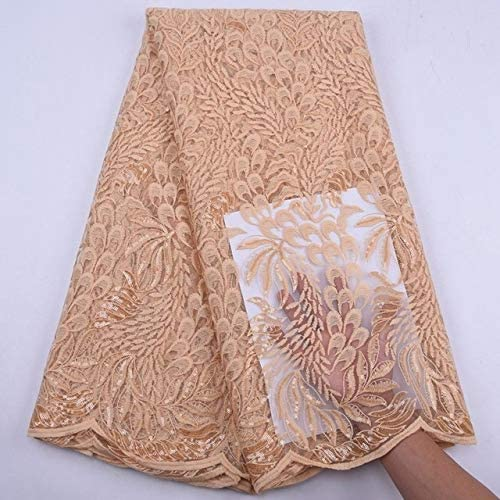 African Lace Fabric Onion Max Quality inspection 46% OFF 2020 with Sequins
