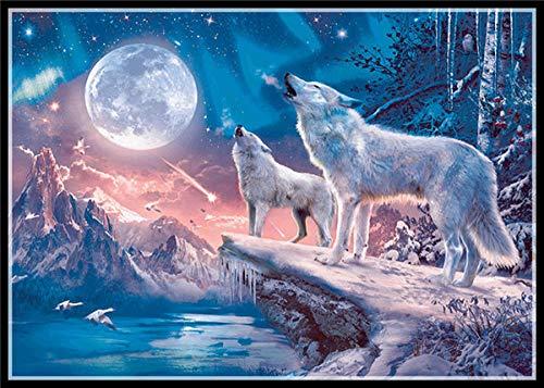DIY de madera Puzzles caballo grandes adultos 1000 piezas oso polar diy animal caballo pintura-6 Imagen de la decoración de la habitación Regalos de Navidad