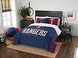 The Northwest Company MLB Texas Rangers Full Comforter and Sham Set, Full/Queen, Blue