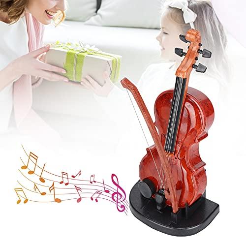 Caja de música para violonchelo, exquisita caja de música ABS dura y de fricción, una variedad de pistas con 7 pistas para niños para su sala de estar u oficina