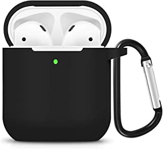 DGBAY for Apple AirPods 1/2nd Silicone Waterproof Case Shock Proof Protecitive Cover with Keychain,Resistant Cover Case fo...