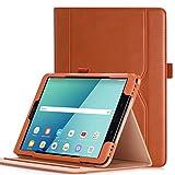 Hülle für Samsung Galaxy Tab S3 9.7 - iHarbort PU-Leder Hülle Schutzhüllen Hülle Cover für Samsung Galaxy Tab S3 9.7 Zoll SM-T820 T825 mit Kartensteckplatz & Auto-Weck/Schlaf-Funktion, Braun