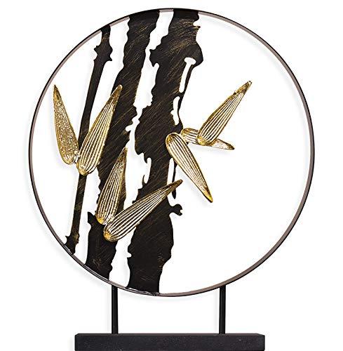 Estilo chino Bambú Ornamentos de hierro forjado Adornos Zen Adornos Estudio Escritorio Porche Gabinete de vino Home Sculpture Doblewarming regalo