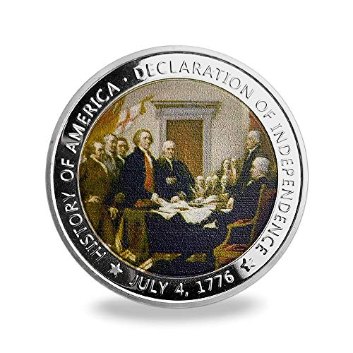 US Military Challenge Coin Presidential 1776 Declaration of Independence Commemorative Coin