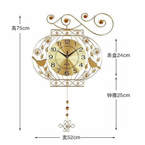 FortuneVin Horloge Pendule Murale Silencieuse Horloge Décoration de la Maison Salon Cuisine Chambre à Coucher Café Bar Bureau Couloir Horloge Pendule Murale Jardin de Roche Quartz Mute