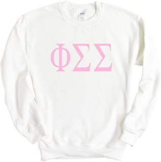 Phi Sigma Sigma Very Pink Sorority Crewneck Sweatshirt