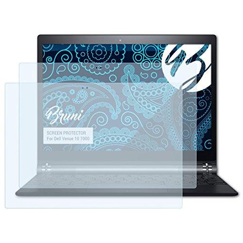 Bruni Schutzfolie kompatibel mit Dell Venue 10 7000 Folie, glasklare Bildschirmschutzfolie (2X)