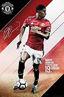 Manchester United - Sports/Soccer Poster/Print (Marcus Rashford - 2017/2018) (Size: 24 inches x 36 inches)