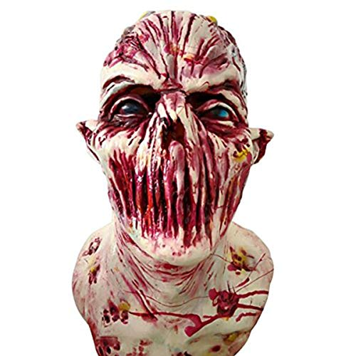 Horror Maschera, Maschera Zombie in Lattice biochimici Mostro Maschera Vestito da Carnevale, Halloween Carnevale, Decorazioni, Lattice, A2, A2