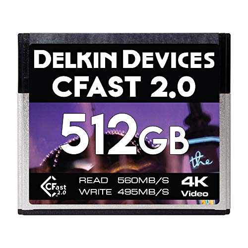 Delkin 512GB Cinema CFast 2.0 Memory Card (DDCFST560512)