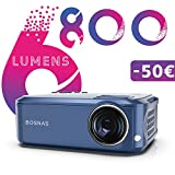 Beamer 6800 Lumen, Native 1080P Full HD Projektor, 300'' Display Beamer Heimkino, Kompatibel mit HDMI USB iPhone Android Laptop Projektor