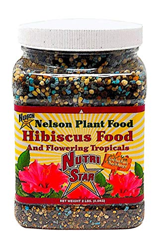 Nelson Hibiscus and Flowering Tropicals In Ground Container Indoor Outdoor Granular Fertilizer NutriStar (2 LB)
