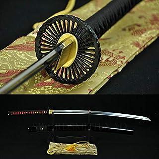 GUREN 1060 Carbon Steel Japanese Samurai Katana Sword Craft Handforged Oil Quenched Blade Full Tang Sharp