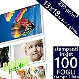 20 fogli Carta fotografica lucida A3 260gsm Plus 1 foglio aggiuntivo carta fotografica bianca e impermeabile ad alta lucentezza per stampanti a getto dinchiostro e fotografiche GO Inkjet