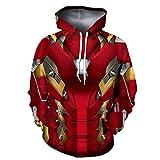 GYMAN Superhéroe Iron Man Prueba De Viento Sudaderas Fleece Pullover...