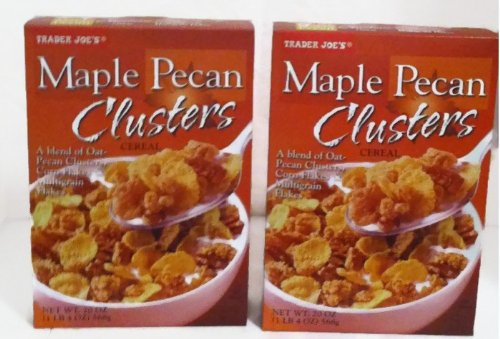 Trader Joe#039s Maple Pecan Clusters Cereal  2 20 Oz Boxes
