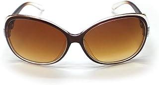 نظارات شمسية نسائية عصرية مضادة للأشعة فوق البنفسجية من جلفأفقي