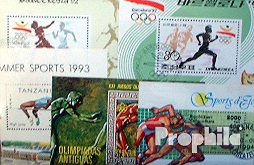 Prophila Collection Motivazioni 10 Diversi Atletica Leggera Blocchi (Francobolli per i Collezionisti) Altri Sport