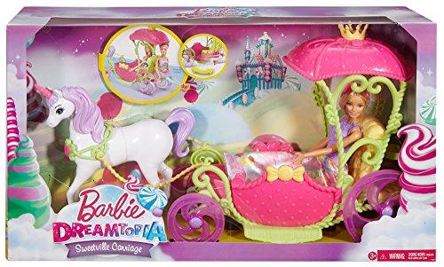 Princesse Barbie et sa Calèche Licorne Dreamtopia - 1