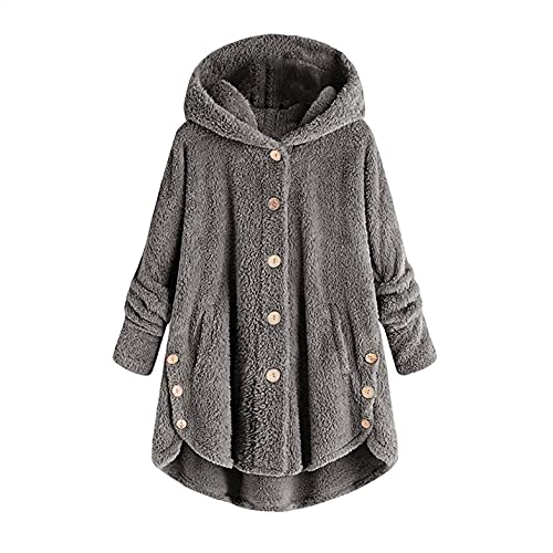 Bolonwzi Frauen Kapuzenpullover Winter Jacke Winterjacke Stepp Mantel lang Regenjacke Winter Übergang Jacke