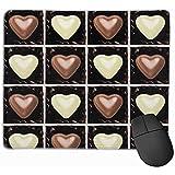 Blanco Marrón Chocolates Corazones San Valentín Amor Postres Dulces Dulces Alimentos Caramelos Lindos Cajas Alfombrilla de ratón Mixta Alfombrilla de ratón