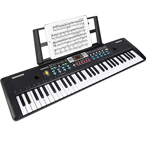 WOSTOO Teclado Electrónico Piano 61 Teclas, Teclado de Piano Portátil Con Atril,...