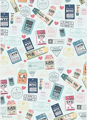 Johanna Rivero DFSA4424 Stamperia International Reispapierpackung, A4, Stärken