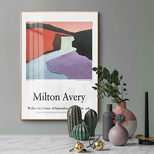 Frameloze Nordic abstracte kunst aan de muur posters en canvas doeken en eenvoudige woonkamer decoratie schilderijen eenvoudige decoratie <> 50x70cm