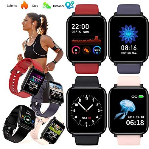 Olodui1 Reloj Inteligente Bluetooth con Marcado Colorido a Prueba de Agua Smartwatches