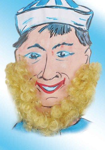 Orlob blonder Bart Seemann Zubehör zum Matrose Kostüm an Karneval Fasching
