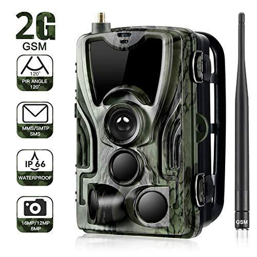 Trappola Per Foto Selvagge Da Fotocamera 2G 16MP 1080P Con Trasmissione Per Telefono Cellulare, Telecamera Di Caccia Impermeabile IP65 Con Sensore Di Movimento