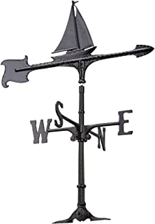 Whitehall Products Sailboat Accent Weathervane, 30-Inch, Black