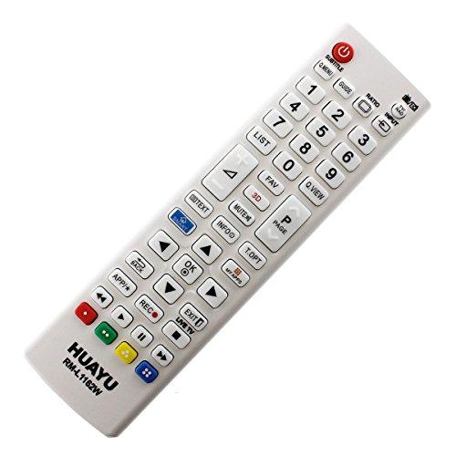Mando a Distancia de Repuesto Adecuado para LG AKB73975716 AKB 73975716 TV Remote Weiß con Conexión PreProgramada Uno a Uno - Función de Arranque Fácil - sin Instalación Molesta