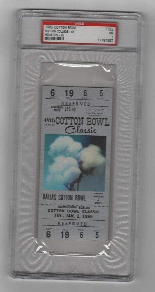 1985 Japan's largest assortment Cotton Bowl Full Ticket Boston 1 College Pop Houston v High Fort Worth Mall