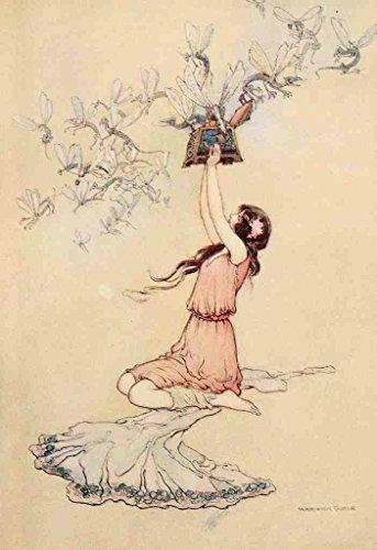 A4 foto Goble Warwick Water Babies 1909 Pandora En Haar Doos Poster