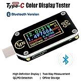 Tipo-C Probador USB Multímetro Bluetooth Amperímetro Voltímetro Medidor 0.96 Pulgadas Pantalla LCD a color IPS Medidor digital de 2 vías de voltaje actual Amperímetro PD Voltímetro TC66C