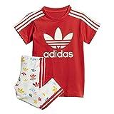 adidas Ragazze Tee Dress Set Tute Rosso, 9-12 Mois