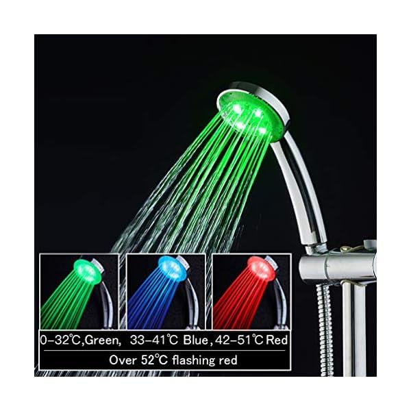LED Alcachofa de Ducha, Ducha LED de Luz, LEDGLE Cambia de Color Alcachofa de Ducha con Luz LED Automáticamente, No…