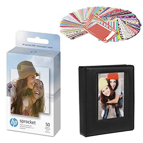 HP 2x3 Zoll Zink Sticker Fotopapier (50 Blatt) Geschenkpaket.