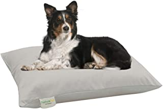 NaturoPet Natural Orthopedic Dog Bed, Premium Organic Cotton & Virgin Wool Soft Cushion Pet Mattress Removable Washable Cover Indoor Durable Chew Resistant Made in USA