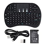 Eloquence Mini Wireless Keyboard and Mouse(Touchpad with Backlight) with Smart Function for Smart Tv, Android Tv Box,Pi, Android & iOS Devices (Black)