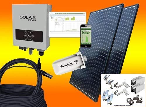 SOLAX 900Watt Balkonkraftwerk/Solaranlage Komplettset mit Internetüberwachung (MIT MONTAGEMATERIAL FÜR PFANNENDACH/ZIEGELDACH)