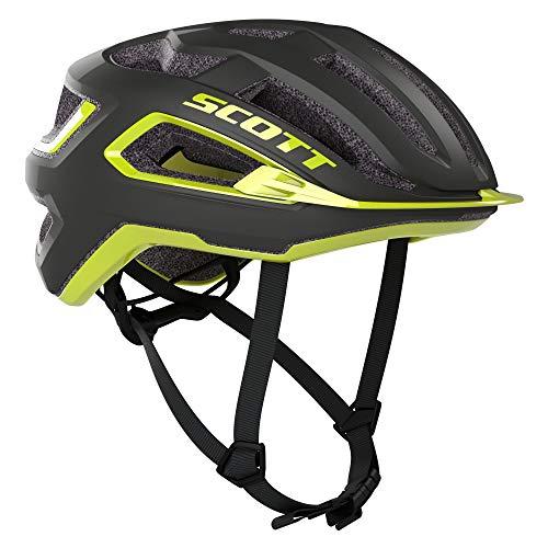 SCOTT 275192, Casco Bici Unisex Adulto, Dk gr/ra YEL, 55-59