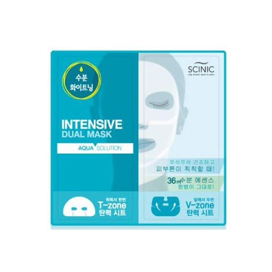 助言あそこ違法[SCINIC]サイニクアクアソリューションデュアルマスク水分供給マスクパック36ml(上18ml、下18ml)10枚 [並行輸入品]