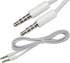 SuperWhole 4Ft 1.2M 3.5mm Male Jack M/M Stereo Audio AUX Auxiliary Car EXTENSION Cable New