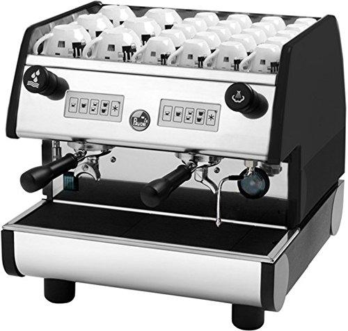 La Pavoni Pub 2V-B 2-Group Volumetric Electronic Espresso Machine, Golden Black, 4 Cups Size Selecti