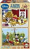 Educa 15285 La Casa de Mickey - Puzzles de Madera (2 Unidades, 50 Piezas)