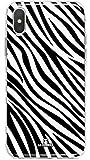 LA COQUERIE - Cover effetto zebrato con motivo, cover protettiva per telefono cellulare