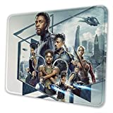 Black Panther Mouse Pad Mouse Mat with Stitched Edge Non-Slip Rubber Base Large Mouse Pads for Laptops Computers and PCs 12 X 10 X 0.12 Inches