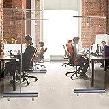引き込み式の透明な保護スクリーン、床に立つくしゃみガード、社会的距離のスクリーン、透明な衛生スクリーン、仕切りスクリーン,60*160cm